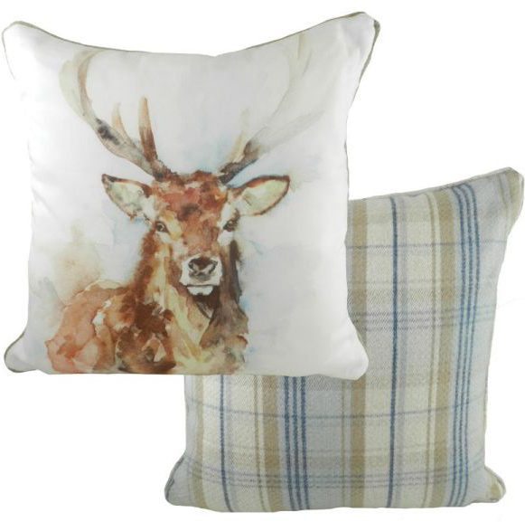 Stag Wildlife Cushion by Jennifer Rose Gallery
