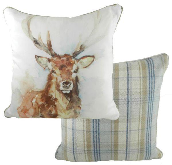Stag Wildlife Cushion by Jennifer Rose Gallery