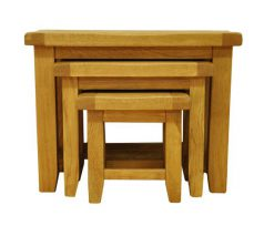 Stamford Nest of Oak Tables