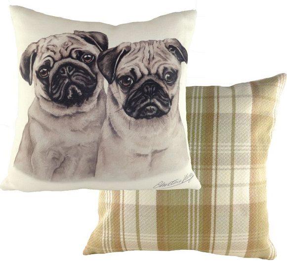 Pugs Dogs Puppy Cushion