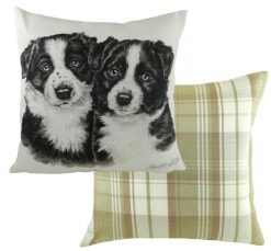 Border Collie Puppy Cushion