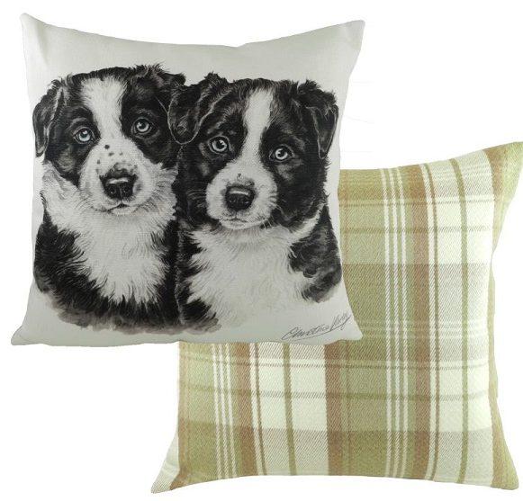 Border Collie Puppy Cushion