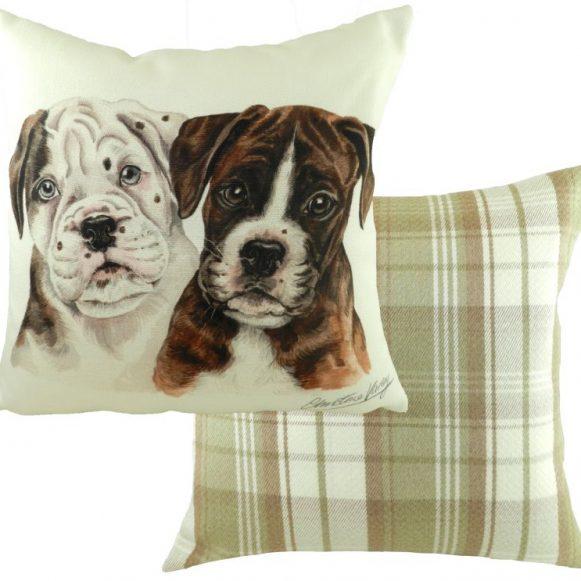 Boxer Dog Puppy Cushion