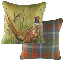 Evans lichfield country manor pheasant cushion