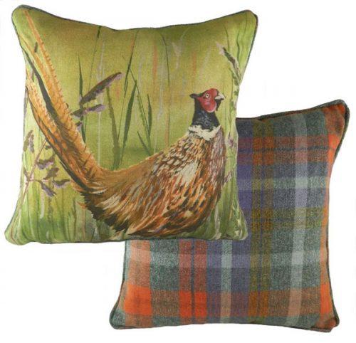 Evans lichfield country manor pheasant cushion