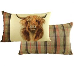 highland cow cushion from Evans lichfield