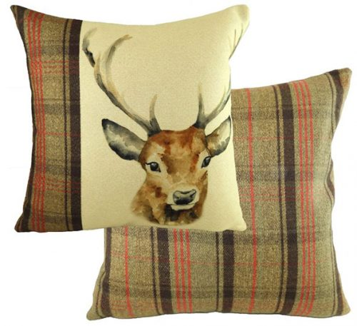 stag hunter cushion from Evans lichfield