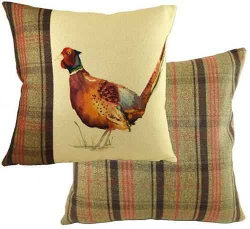 pheasant cushion Evans lichfield