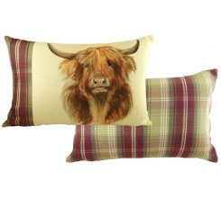 highland cow Evans lichfield cushion
