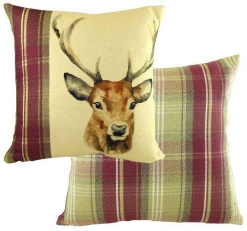 Evans lichfield stag cushions