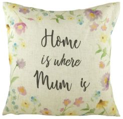 home is where mum is cushion