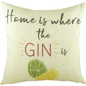 Gin & tonic themed cushions