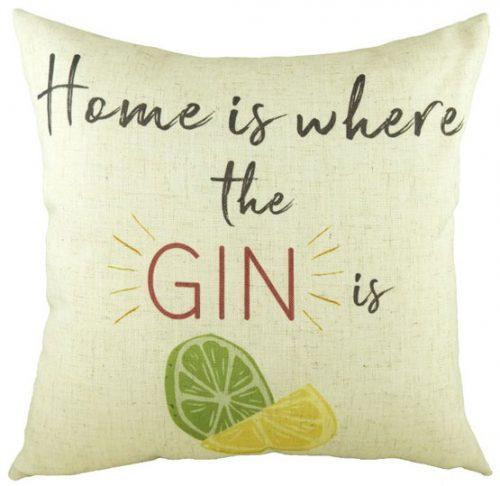 Gin & tonic themed cushions