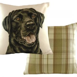 Black Labrador Cushion Waggy Dogz