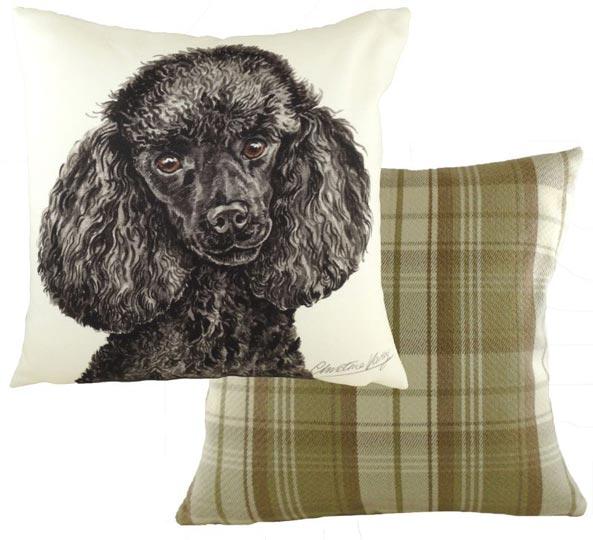 black poodle cushion