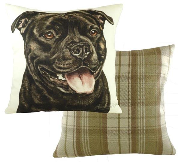 Black Staffordshire Bull Terrier