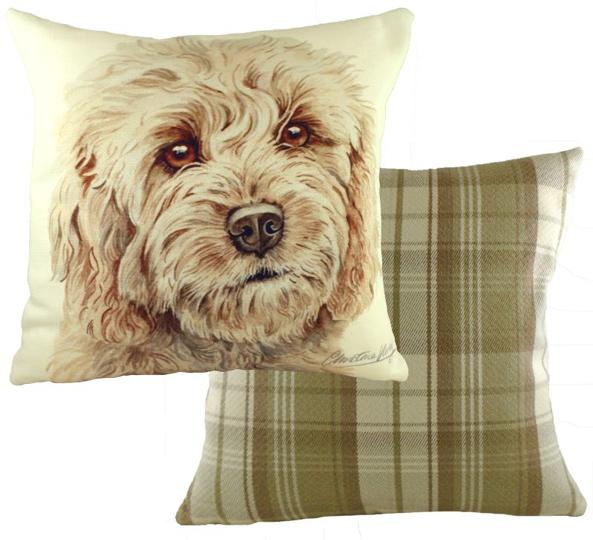 blonde cockapoo cushion saggy dogs