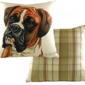 waggy dogs boxer dog cushion