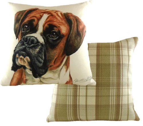 waggy dogs boxer dog cushion