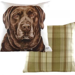 Chocolate Labrador Cushion