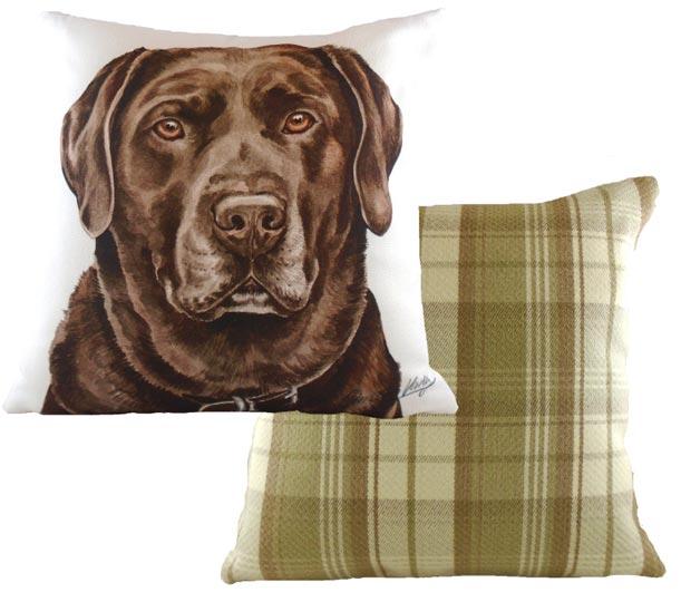 Chocolate Labrador Cushion