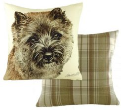 Fawn Cairn Terrier cushion