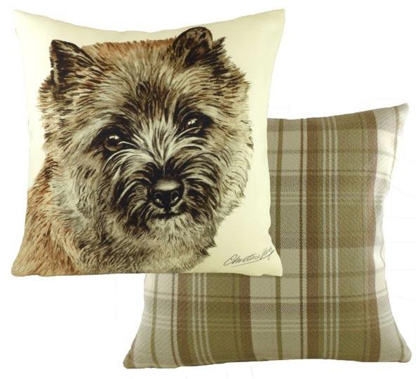 Fawn Cairn Terrier cushion