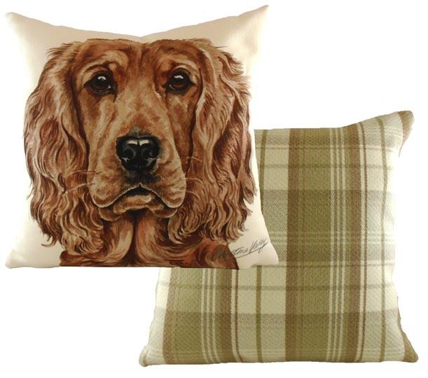 Golden Cocker Spaniel cushion