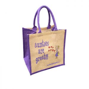 aunties are great jute bags