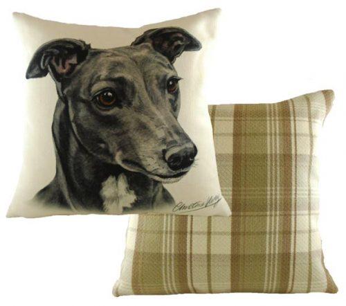 greyhound cushion waggy dogz