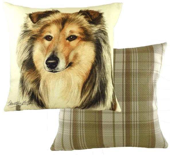 Rough Collie cushion