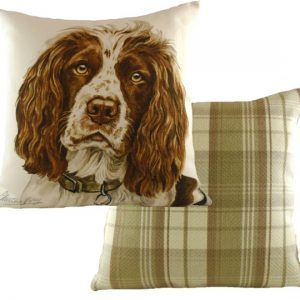 Springer spaniel waggy dogz cushion