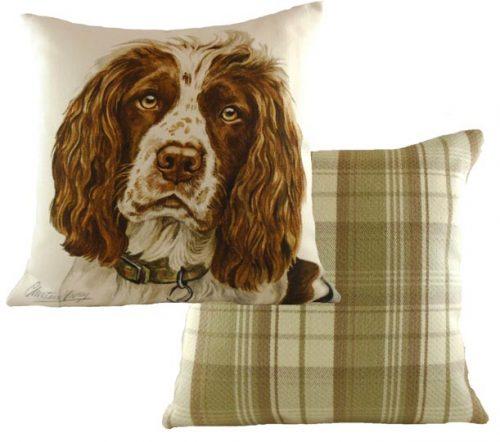 Springer spaniel waggy dogz cushion