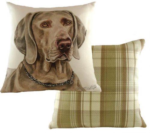 weirmaraner cushion waggy dogz
