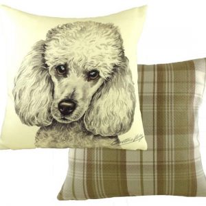 white poodle cushion