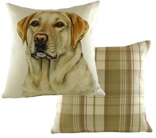 yellow labrador cushion
