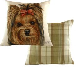 waggy dogs yorkie dog cushion