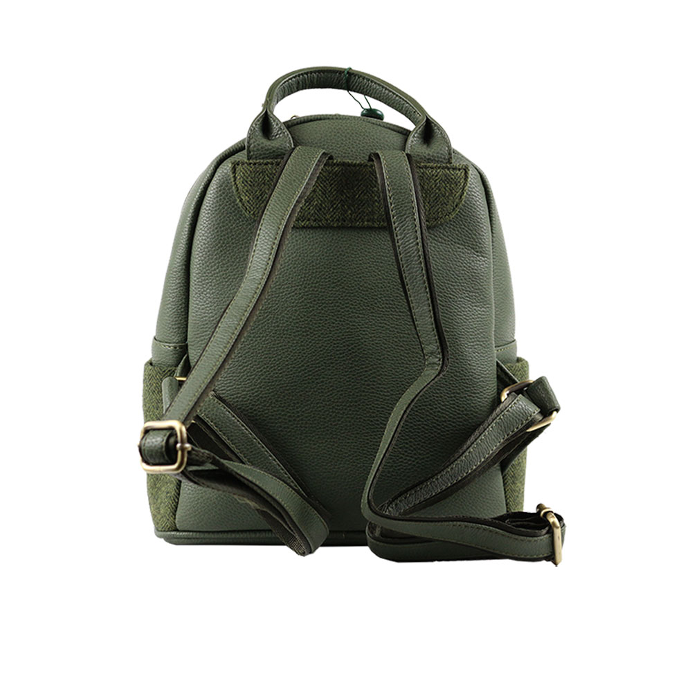 house-of-tweed-sm-backpack-light-green-rear