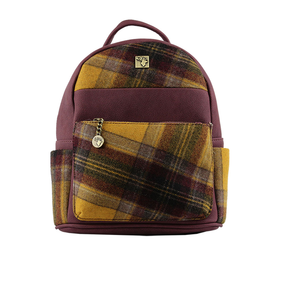 House Of Tweed Small Tartan Backpack View The Range
