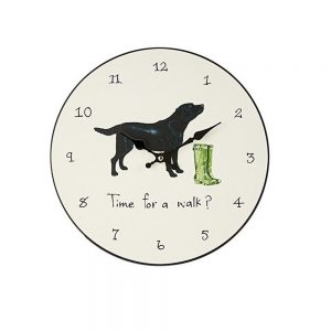 dog design wall clock