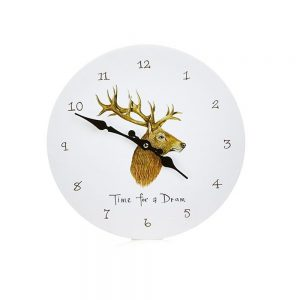 wall clock with country side animal design