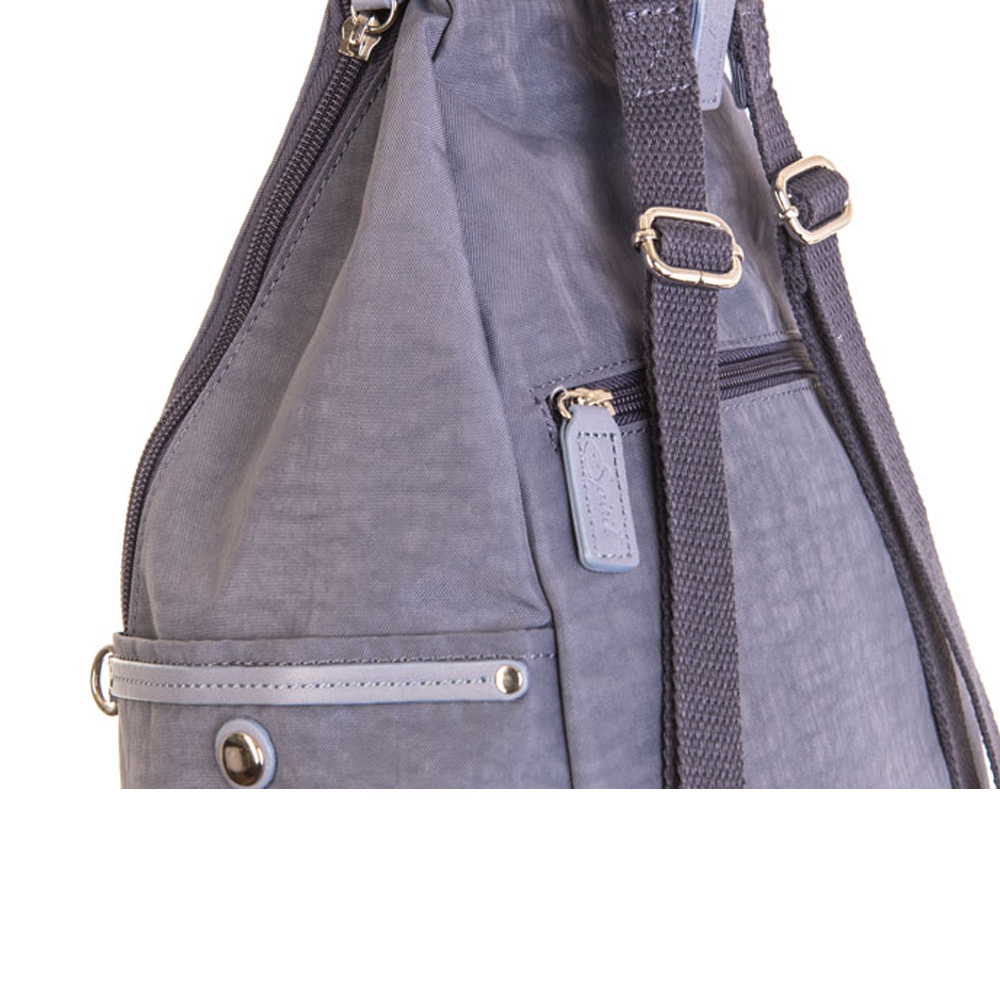 Spirit backpack features side pockets