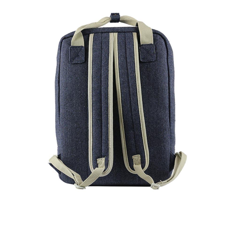 Blue Tweed Backpack Rear