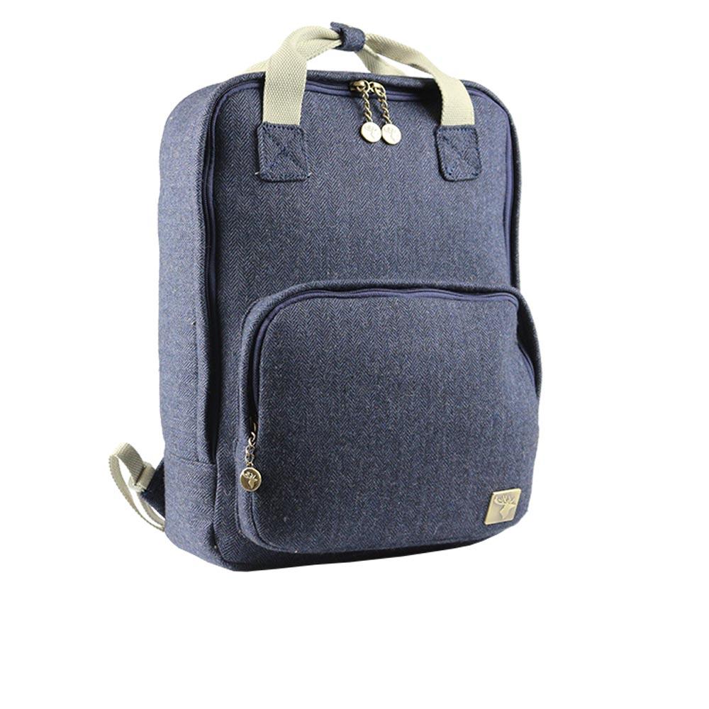 house-of-tweed-backpack-blue-tweed-side