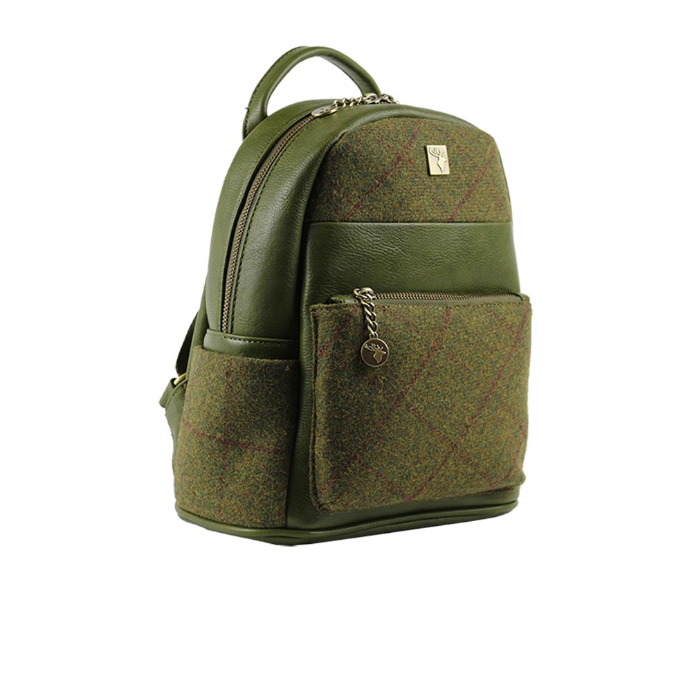 house-of-tweed-backpack-small-country-green-side-view