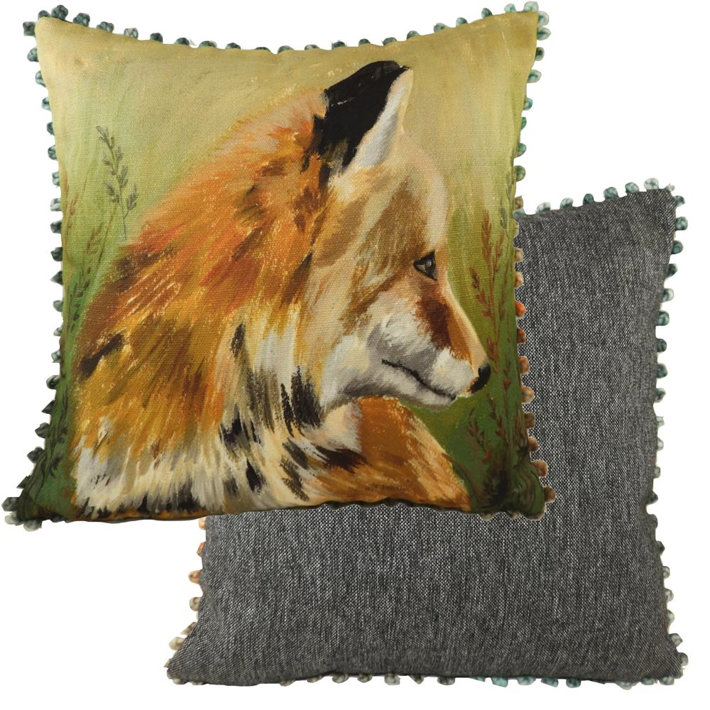 Evans Lichfield Fox Bobble Cushion