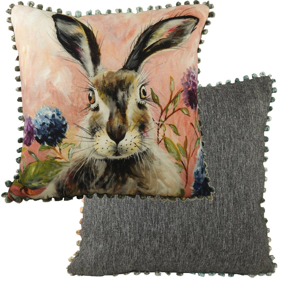 Evans Lichfield Hare bobble cushion