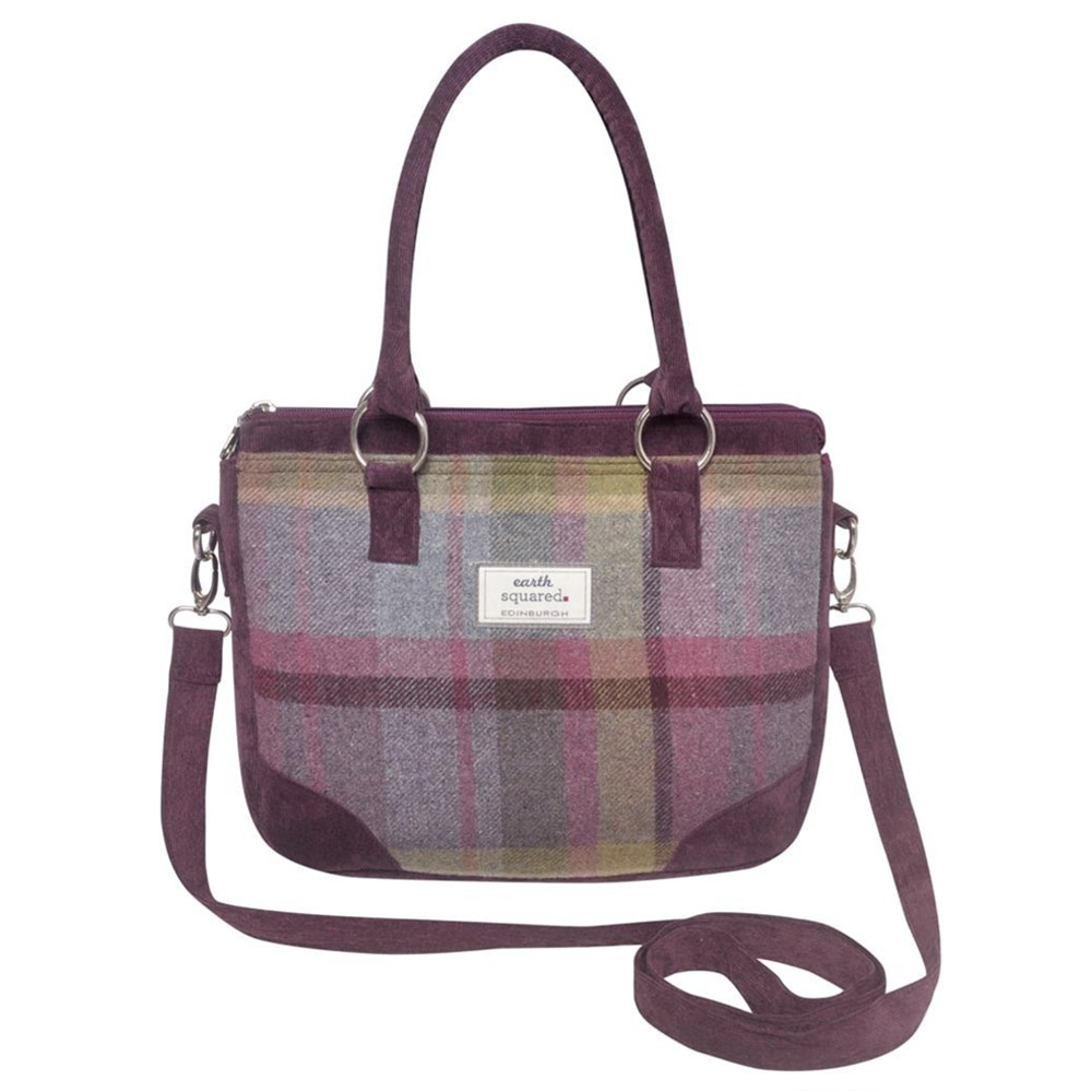 Earth squared Saskia Thistle Tweed Bag
