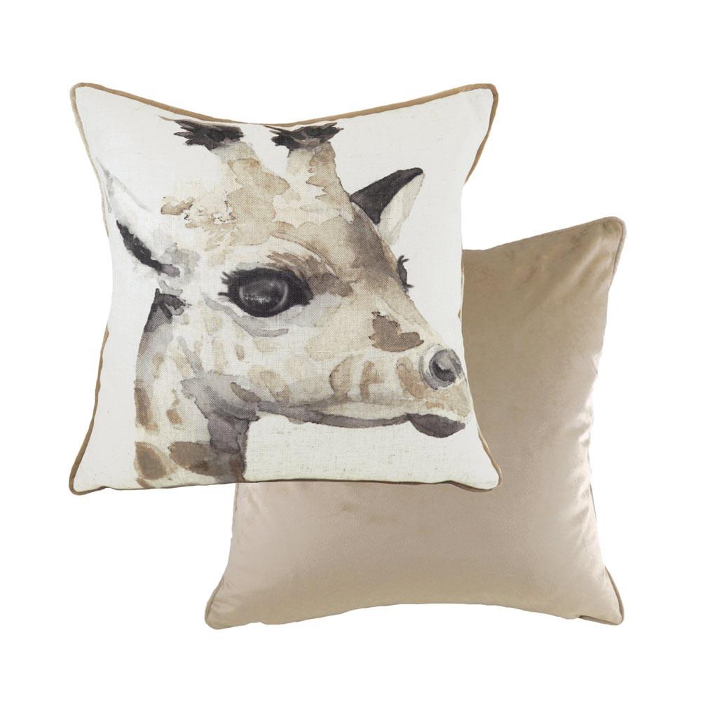 evans lichfield giraffe cushion