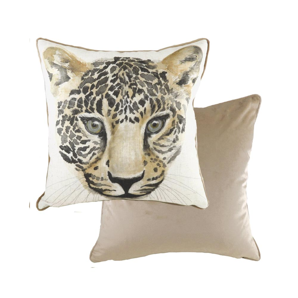 Evans Lichfield Safari Leopard Cushion